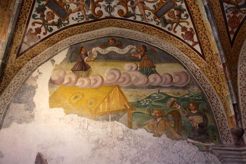 Abside dell'antica chiesa parrocchiale: particolare della Natività