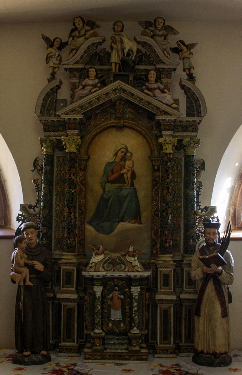 Chiesa di Zenich vecchia: pala d'altare