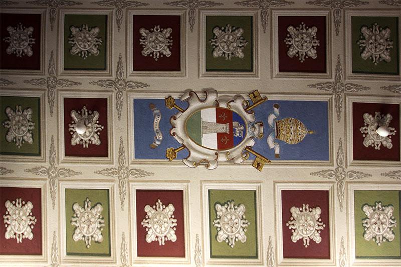 Chiesa nuova di Frassenè: soffitto della sacrestia