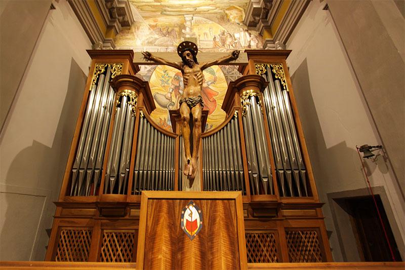 Chiesa parrocchiale di Rivamonte: sede ed organo