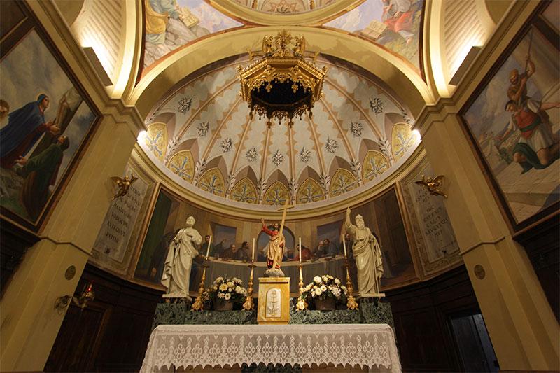 Chiesa parrocchiale di Tiser: abside