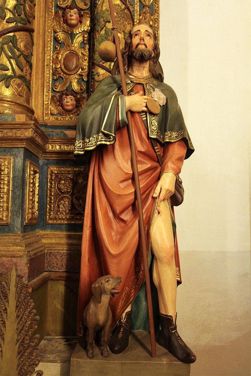 Chiesa parrocchiale di Tiser: statua di S. Rocco