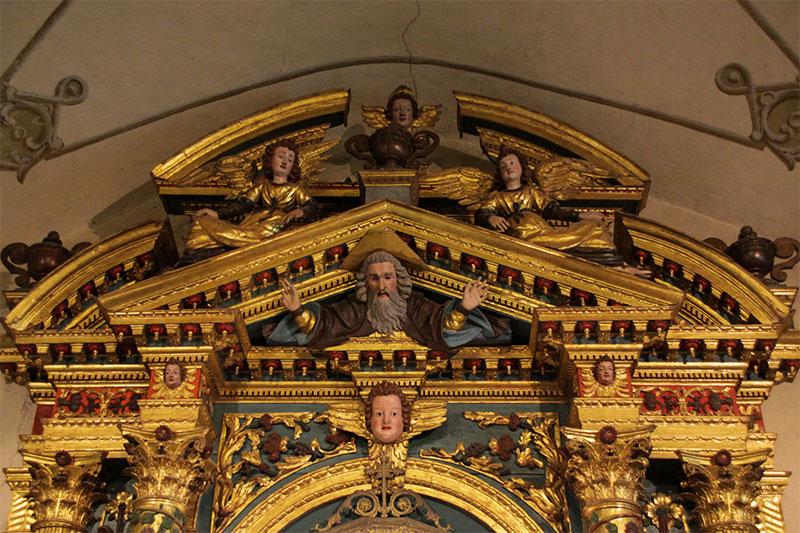 Chiesa parrocchiale: particolare della pala d'altare