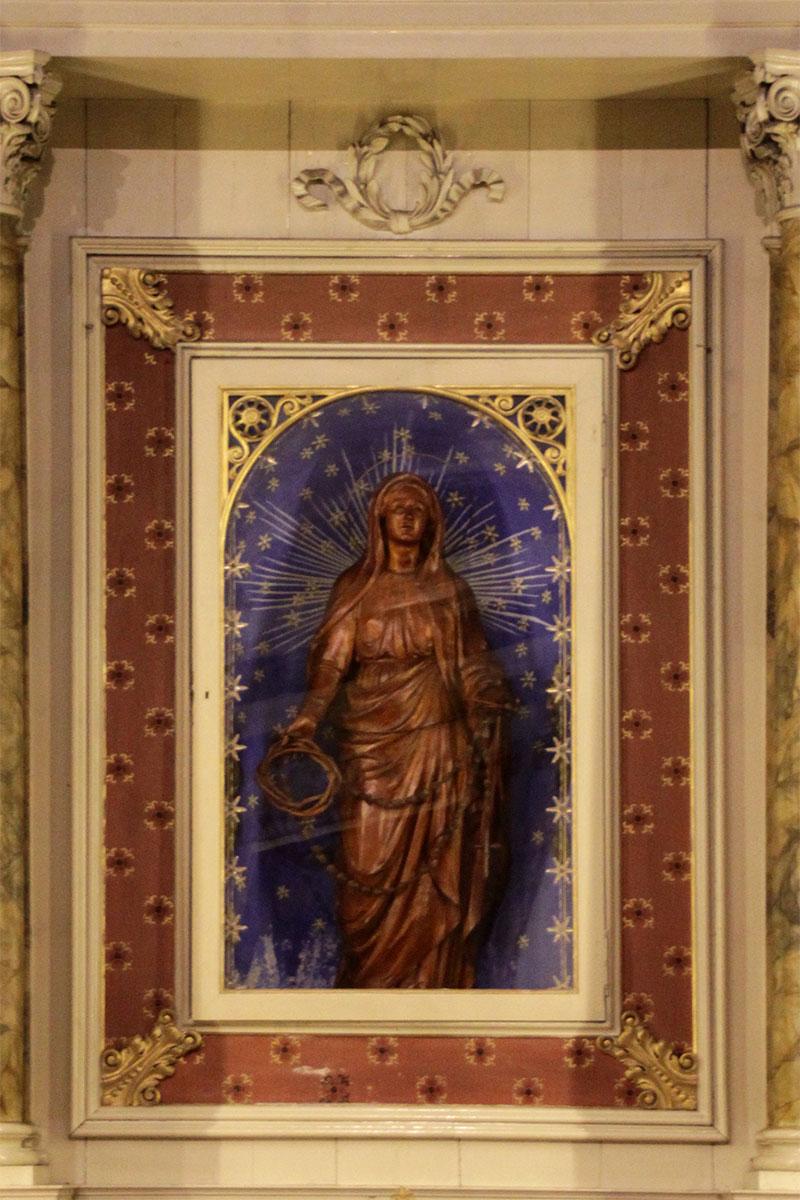 L'immagine votiva della B.V. nella chiesa parrocchiale di Gosaldo
