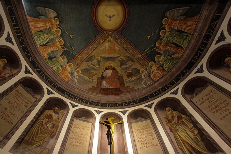 Particolare della volta della chiesa parrocchiale