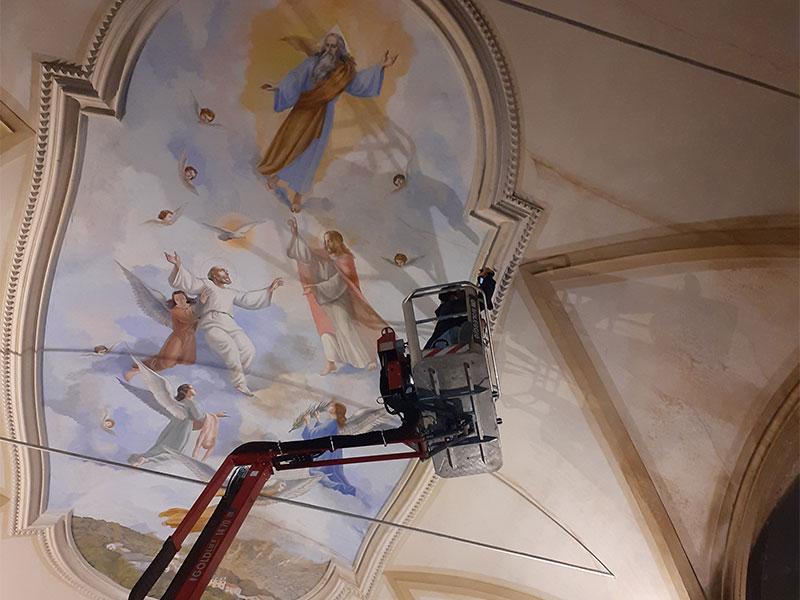In vista del restauro interno