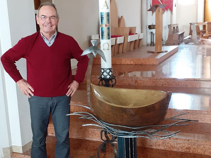 Un nuovo battistero per la chiesa parrocchiale di Frassenè