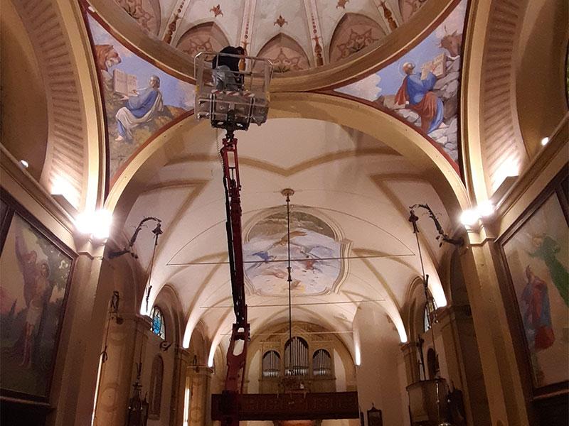 Prosegue l'iter per il restauro interno della chiesa parrocchiale di Tiser